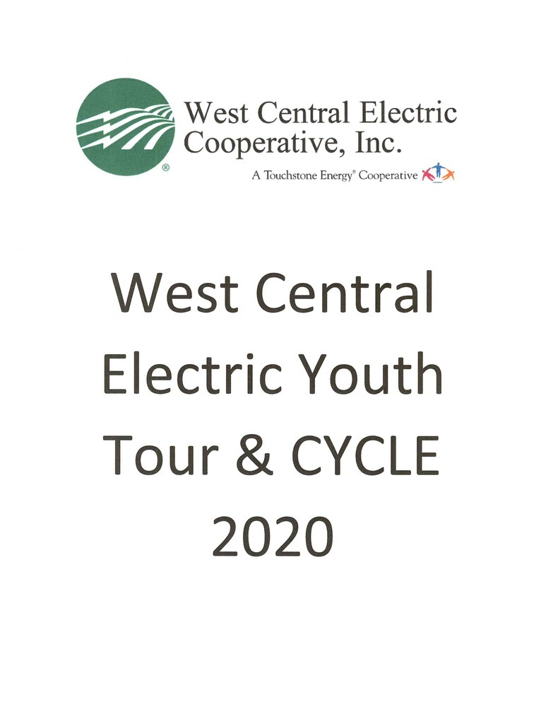 West Central Electric Youth Tour & Cycle