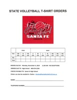 2019  State Volleyball Order Form