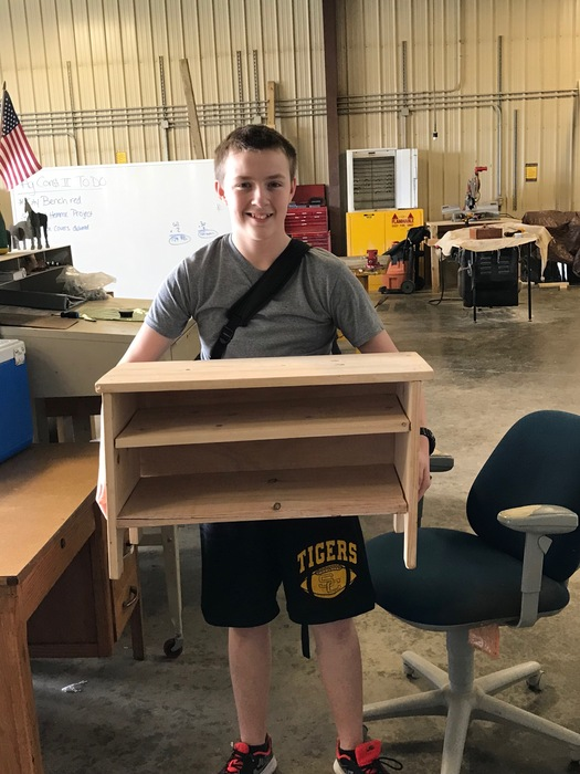Brendon's woodworking project