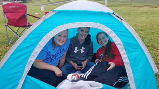 Super Fans at sectional track!